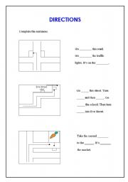 directions worksheet esl worksheet by almantula. Black Bedroom Furniture Sets. Home Design Ideas