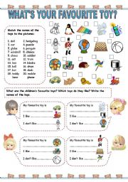 English Worksheets: What�s your favourite toy? (1)