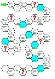 English Worksheets: questions- board game