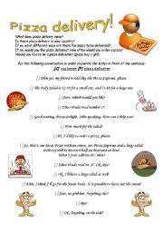 English Worksheet: Pizza Delivery!