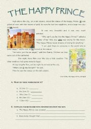 the happy prince summary Ncert exercise solution nine english moments the happy prince.