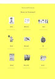 English Worksheets: Nouns or Pronouns