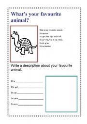 English Worksheets: what�s your favorite animals?