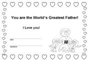 English Worksheets: Father´s day award