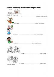 English Worksheets: love-like-not like and hate