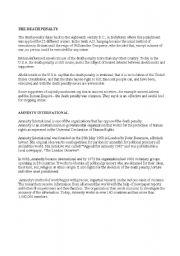 English Worksheet: Death penalty