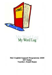 English Worksheets: my word log book