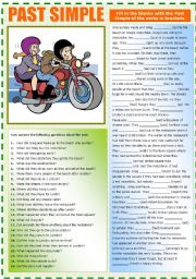English Worksheet: Paula and Greg (PAST SIMPLE)