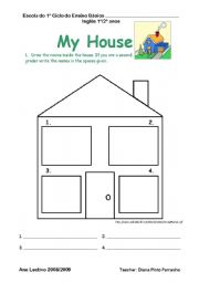 my house esl worksheet by diana parracho. Black Bedroom Furniture Sets. Home Design Ideas