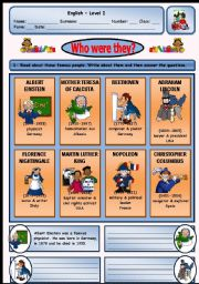 English Worksheets: WHO WAS MARTIN LUTHER KING ?