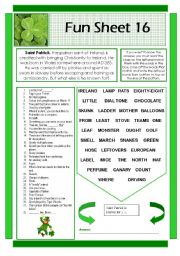 English Worksheets: Fun Sheet 16
