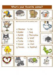 animals adjectives esl worksheet by la luna. Black Bedroom Furniture Sets. Home Design Ideas