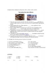 English Worksheet: Fascinating facts about Mexico