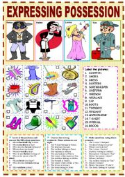 English Worksheets: EXPRESSING POSSESSION