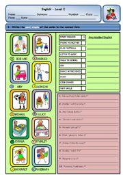 English Worksheet: PAST SIMPLE OF REGULAR VERBS