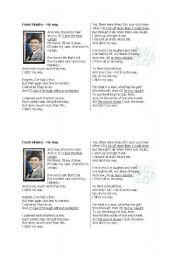 English Worksheets: lyrics exercise Frank Sinatra - My Way