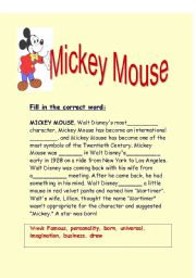 English Worksheet: the story of