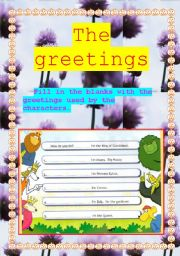 English Worksheets: The greetings