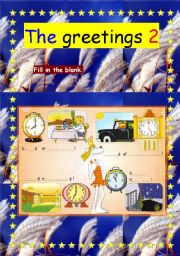 English Worksheets: The greetings 2