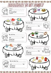 English Worksheet: MEALS IN MY FAMILY (1) - BREAKFAST
