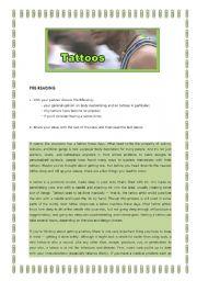 English Worksheets: Body customising - Tattoos