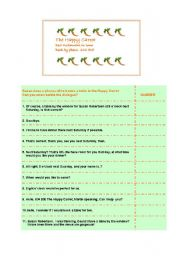 English worksheet: Book a table in The Happy Carrot
