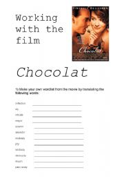 English Worksheets: Working with the film CHOCOLAT