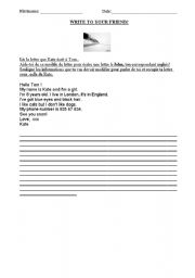 English Worksheets:  a letter