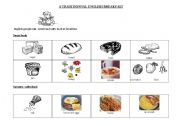 English Worksheet: traditionnal english breakfast lesson