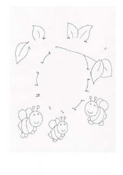 English Worksheet: Beehive Dot to Dot