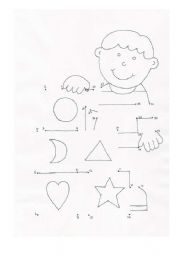 English Worksheet: Boy with Toy Blocks Dot To Dot