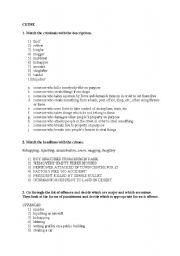 English Worksheet: Crime and punishment - vocab exercises