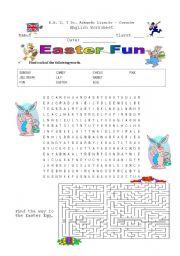 English Worksheet: Easter Fun