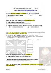 English Worksheet: ICT British culture