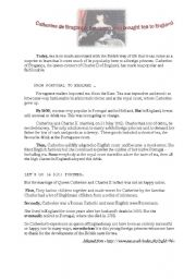 English Worksheet: catherine de Bragan�a: the queen who brought tea to England