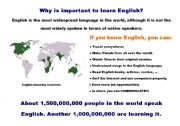 English Worksheets: Why is imortant to learn English?