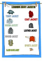 English worksheet: learning about clothes