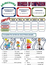English Exercises: Adjectives: Degrees of Comparison