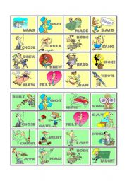 BINGO OF IRREGULAR VERBS (2 OF 9)
