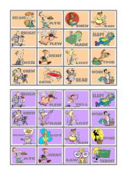 BINGO OF IRREGULAR VERBS (4 of 9)