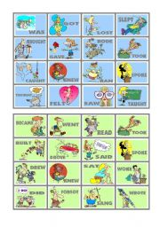 BINGO OF IRREGULAR VERBS (5 of 9)