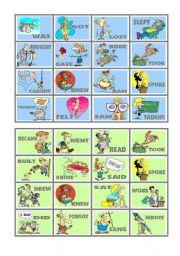 English Worksheet: BINGO OF IRREGULAR VERBS (5 of 9)