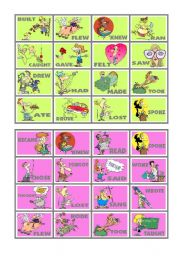 BINGO OF IRREGULAR VERBS (6 of 9)