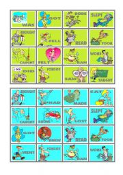 BINGO OF IRREGULAR VERBS (7 of 9)