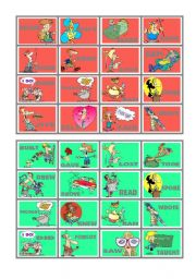 BINGO OF IRREGULAR VERBS (8 of 9)
