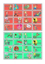 English Worksheet: BINGO OF IRREGULAR VERBS (8 of 9)