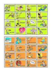 BINGO OF IRREGULAR VERBS (9 of 9)