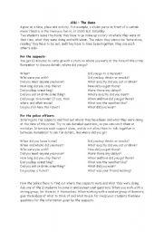 English Worksheet: Alibi for weaker students