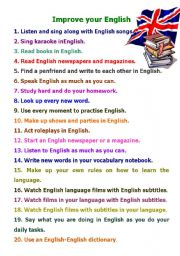 English Worksheets: Improve your English