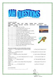 English Worksheets: wh quest�ons